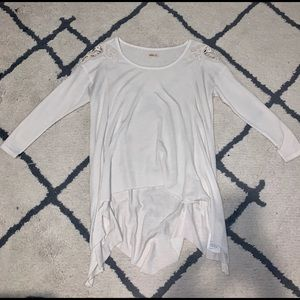 Hollister Ivory 3/4 Sleeve Top
